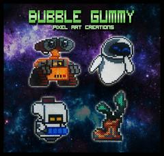 Wall-e (Bubble Gummy pixel art) Tags: eve beads eva cartoon disney pixar pixelart animated cartoons hama perler walle 8bits hamabeads perlerbeads beadsprite disneyhamabeads pixarhamabeads wallehamabeads