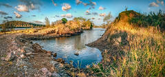 quarry-Coomera-pana- (dazza17 - DJ) Tags: sunset pano wide quarry hdr coomerariver landscales