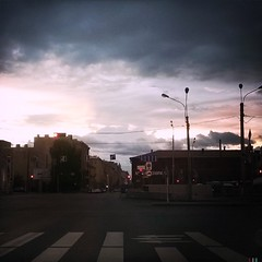 #sunset #clouds #spb #roads #ride #indastrial #evening #traffic