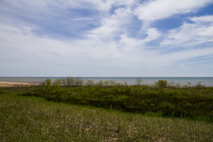 Thursday on Neshotah Beach (Lester Public Library) Tags: beach wisconsin clouds day sunny lakemichigan greatlakes beaches tworivers tworiverswisconsin neshotah neshotahbeach readdiscoverconnectenrich projectweather wisconsinlibraries lesterpubliclibrarytworiverswisconsin pwpartlycloudy pwspring