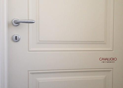 Dettaglio sagomatura pannelli porta pantografata 111CP