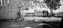 ice cream and bicycles (Foide) Tags: bike lomography bikes lomolca jopo kentmere
