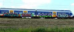 Painted Train (oerendhard1) Tags: urban streetart art graffiti rotterdam vandalism paintedtrain