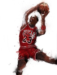 MJ (ceroctaart) Tags: art sports basketball digital photoshop mj digitalart bulls 23 graffit nba michaeljordan