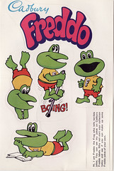 Mid 1970s Cadbury Freddo Stickers Sheet - New Zealand (NZCollector) Tags: new advertising cards stickers zealand trading bubblegum collectables promotional trade collectibles kiwiana
