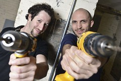 Founders of Toronto Tool Library, Ryan Dyment (left) & Lawrence Alvarez (right)