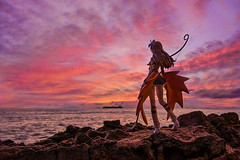 Flame of the West (Ateens Chen) Tags: sunset sea portrait people landscape nikon shiningwind ateens autofocus maxfactory kureha d700 afsnikkor24mmf14ged