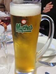 2014-052970 (bubbahop) Tags: beer greece day1 taverna ios mythos 2014 gvss sailinggreece sousana gadventures europetrip30 santorinitosantorini