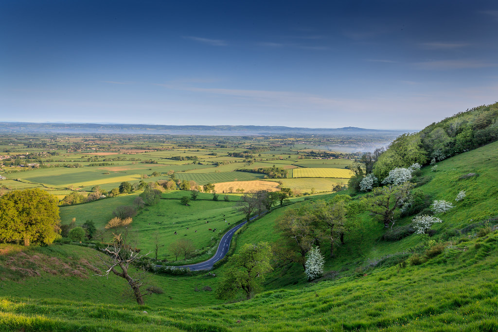 View of the Severn Valley from Frocester Hill.