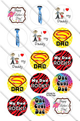 #BC140 - Father's Day Bottle Cap Images (tictactogs) Tags: love collage digital daddy 1 bottle rocks dad circles tie images cap round zebra bottlecap sayings superdad happyfathersday onecooldad