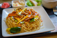 Sweet and tangy chow mein from Next Noodle Bar ($8.50)