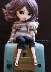We've found it! (pure_embers) Tags: bear uk brown cute girl radio sweater doll dolls sweet machine sadie jeans wig pullip stripey luts pure embers rosy tula tinie obitsu rosybrown stica cakau pureembers dewdropteddybears