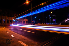 ligth speed (Javajavon) Tags: chile street city light bus luz night speed photography lights luces noche photo calle exposure flickr sony ciudad alpha velocidad facebook a58 tomé longexpo tumblr expocicion largaexpo sonyalphaa58
