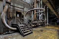 In One Hole, Out The Other (earthmagnified) Tags: urban plant rot abandoned industry canon rust iron peeling paint industrial factory power decay steel empty exploring explorer curves pipes pipe curvy forgotten powerplant forsaken exploration gears valves decaying ue curving