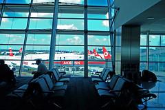 Praying at Istanbul Airport (walaska) Tags: blue airport fuji muslim islam prayer kitlens istanbul fujifilm 1855mm xt1