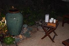 Gongfu Tea in the Garden (jjldickinson) Tags: wood plant cup fountain garden ceramic table vietnamese tea landscaping chinese bamboo pot longbeach vase tray wrigley waterfeature pitcher gongfu ladle droughttolerant hishaku xeriscaping suikinkutsu nosecup nikond3300 lawntogarden promaster52mmdigitalhdprotectionfilter 100d3300 nikon1855mmf3556gvriiafsdxnikkor