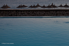 water & water (filipe mota rebelo | 400.000 views! thank you) Tags: blue vacation beach water pool umbrella canon hotel europe balkans albania 2014 balcans fmr dhermi drymades 5dmarkii filipemotarebelo