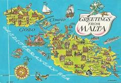 Malta map card (tico_manudo) Tags: malta europa europe maps mapas mapcards