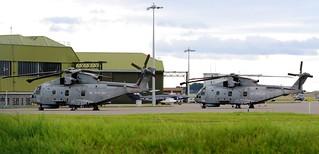 Royal Navy EHI EH-101 Merlin HM1 ZH842 & ZH856 2