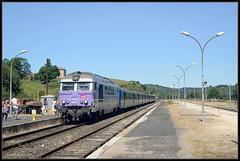 17-07-2014, Langogne, SNCF 567611 + 12 +347 (Koen langs de baan) Tags: train de diesel rrr bb allier gorges sncf touristique cevennes cevennen lallier 67400 langonge 567000