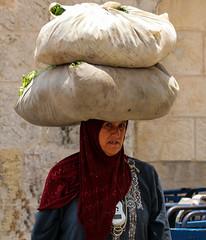 a conspiracy theory... (ybiberman) Tags: israel jerusalem alquds muslimquarter woman herbs bags peddler veil hijab candid streetphotography