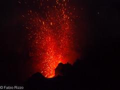 stromboli eruzione (fabiorizzo72) Tags: sicilia isole eolie messina sicily island vulvano eruzione stromboli strombolicchio mare sea italia italy eruption volcano travel viaggi landscape paesaggio