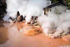 . (Wunkai) Tags: beppushi ōitaken japan jp 大分縣 別府 海地獄 geothermal 地熱 steam 蒸氣 reddish 赤