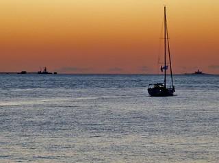 sailing - Lisbon, Portugal - velejando entre o Bugio e Lisboa