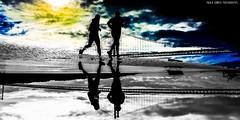 Quando o chão é um espelho.... (When the floor is a mirror ....) (Paullus23) Tags: bridge run running could reflection reflexo ponte correr corrida espelho mirror cores colour colors