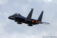 F-15E Strike Eagle 91-0605 LN - 492nd Fighter Squadron RAF Lakenheath (stu norris) Tags: f15e strike eagle 910605 ln 492ndfightersquadron raflakenheath 48fw 48thfighterwing libertywing boeing mcdonnelldouglas egul lhz usaf usafe 492fs madhatters riat egva ffd fairford airshow aviation airplane jet