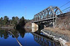 Reflections (Cindy's Here) Tags: reflection trainbridge lakeofthewoods kenora ontario canada canon 100xthe2017edition 100x2017 image20100
