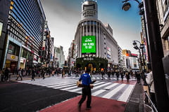 Fun place to go! (Phg Voyager) Tags: japan asia tokyo shibuya tower building street urban city daylight color outdoor leica mp 18mm crossing empty people fun longexposure phgvoyager