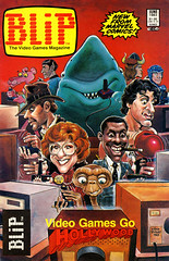 Blip #5 (1983), cover by Sam Viviano (Tom Simpson) Tags: blip indianajones jaws shark rocky et videogame gaming 1983 1980s samviviano startrek mrspock tron ettheextraterrestrial conanthebarbarian thepinkpanther pinkpanther