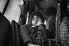 Life is a journey (Feca Luca) Tags: street reportage portrait ritratto children bimbi passenger passeggero blackwhite bus india rajasthan travel nikon people life
