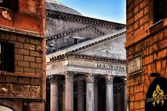 Pantheon (Japo García) Tags: pantheon roma esquina contraluz edificios monumentos ciudad antiguo texturas columnas lasdrillos calle viajar turismo japo garcía foto