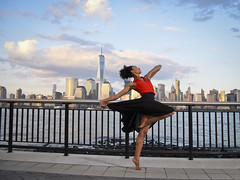 Dancer (Narratography by APJ) Tags: apj dance nj dancer skyline skyscraper nyc jerseycity beautiful cloud clouds sky