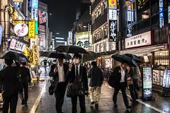 Japan - Tokyo (SergioQ79 - Osanpo Photographer -) Tags: people streetjapan giappone japan tokyo rain street night umbrella nikon d7200 shinjuku