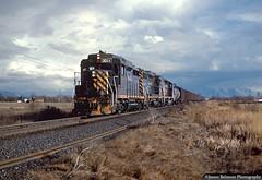 The Provo Turn on a Stormy Afternoon (jamesbelmont) Tags: utah lehi train railroad gp30 drgw locomotive emd local rural stormlighting