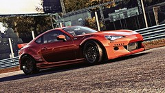 Hazy (alt.) (polyneutron) Tags: car photography scion frs rocketbunny racing tuning orange sportscar motorsport projectcars pcars pc automotive videogame photomode depthoffield exposure hdr