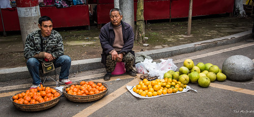 2016 - China - Yangtze River - Shibaozhai - Fruit with Round Rock