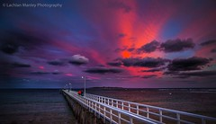 Pier Sunset (Lachlan Manley Photography) Tags: pier ripview therip reflection pinkclouds pinkskies