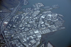 Aerial view of Genentech, Oyster Point, and South San Francisco, San Mateo County, California (cocoi_m) Tags: aerialphotograph aerial genentech oysterpoint southsanfrancisco sanmateocounty california highway101 sanbrunomountain sanfranciscobay