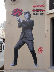 Jae-Ray-Mie : Romantic Harry (2017) (Archi & Philou) Tags: collage jaeraymie inspecteurharry fleur flower streetart pasteup paris11