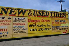 Venega's Tires, Van Nuys, CA (Robby Virus) Tags: losangeles la california ca vinegas tire shop store used new tires vannuys boulevard sign signagemichelin goodyear bridgestone