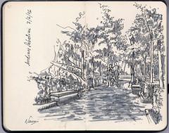 De nuevo en los Jardines de Sabatini (f.gómezcorisco) Tags: librito rotulador madrid airelibre castejao esbozo urbansketchers dibujo boceto