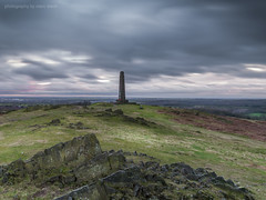 Grey Day (marc_leach) Tags: landscape sky clouds grey hill rocks monument warmemorial grass trees outdoors countryside cold rural noperson uk leicestershire eastmidlands bradgatepark deerpark countrypark stone nikon