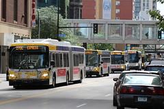 Bus Parade (kenny0528) Tags: bus busfan metrotransit publictransit transitfan downtown minneapolis minnesota maplegrovetransit maplegrove busspotting busspotter newflyer newflyerarticulated articulatedbus gillig gilligbrt gilligadvantage mci motorcoachindutries coachbus rushhour