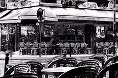 Café Place de la Contrescarpe (C. B. Campbell) Tags: modified creative art bw blackandwhite noiretblanc wtmw flickrelite
