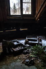 Time to leave (keiththrn) Tags: gasmasks soviet union gas masks urbex urbanexploration wwii worldwarii coldwar shadows contrast nature naturewillout