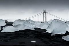 Islande, plage, 2 (Patrick.Raymond (4M views)) Tags: islande plage gel glace hiver glacier pont hdr nikon nikonflickraward expressyourself
